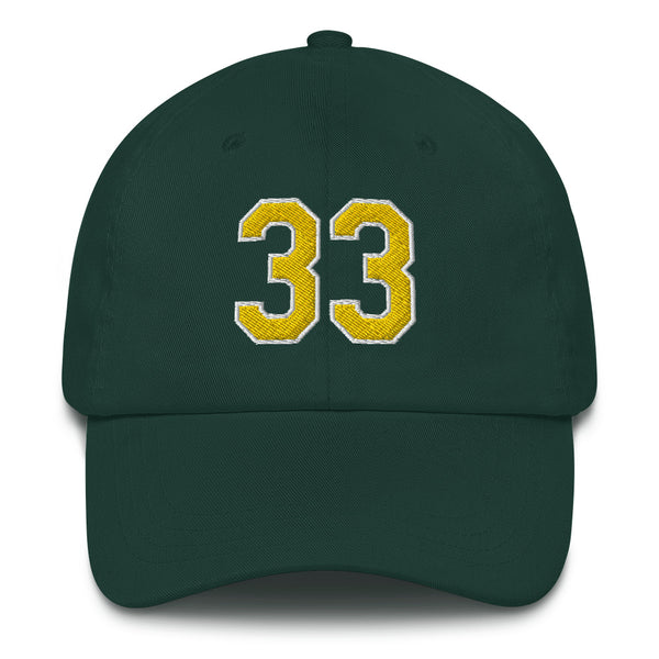 Jose Canseco #33 Dad hat-Player Number Hat-Coverage Gear