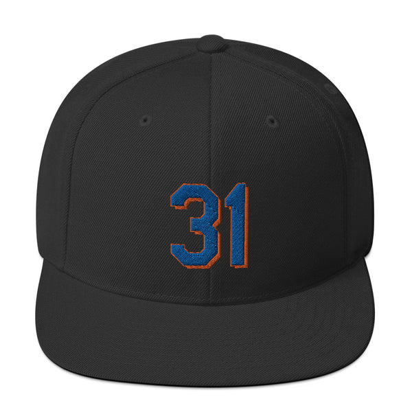 Mike Piazza #31 Snapback Hat-Player Number Hat-Coverage Gear