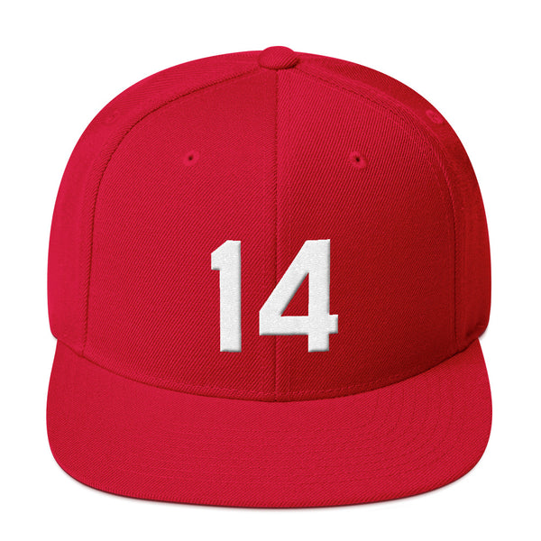 Pete Rose #14 Snapback Hat-Player Number Hat-Coverage Gear