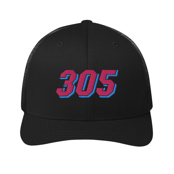 305 Miami Area Code Retro Trucker Cap