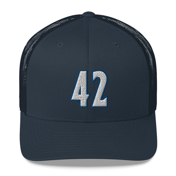 Kevin Love #42 Trucker Cap-Player Number Hat-Coverage Gear