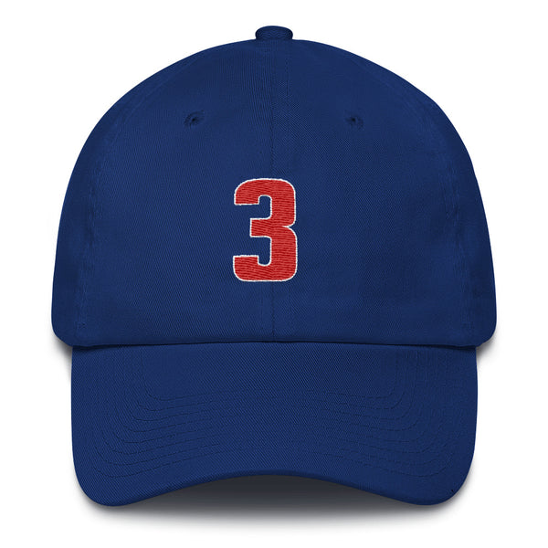 Ben Wallace #3 Dad Hat-Player Number Hat-Coverage Gear