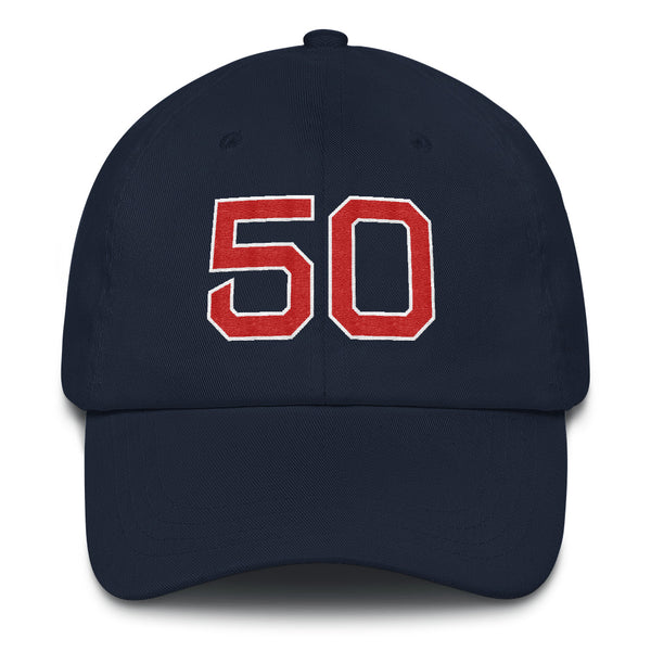 Mookie Betts #50 Dad Hat-Player Number Hat-Coverage Gear