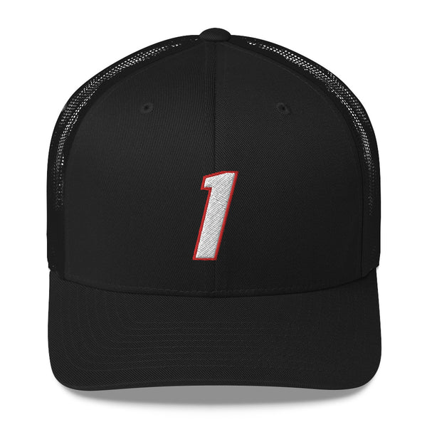Chris Bosh #1 Trucker Cap-Player Number Hat-Coverage Gear