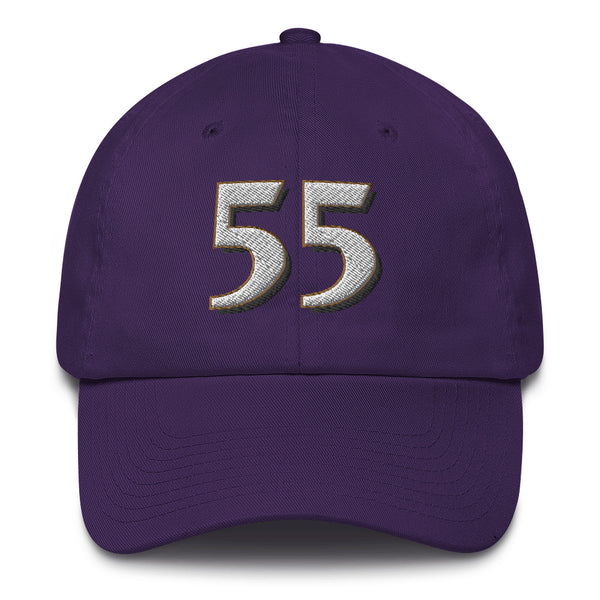 Terrell Suggs #55 Dad Hat-Player Number Hat-Coverage Gear