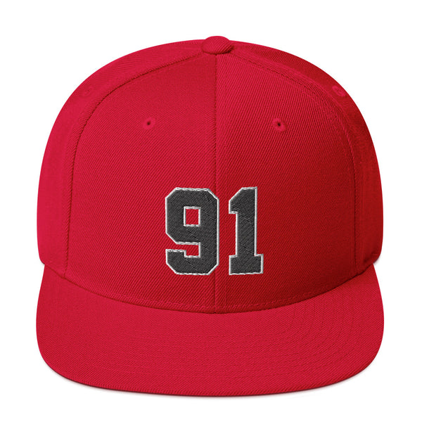 Dennis Rodman #91 Snapback Hat-Player Number Hat-Coverage Gear