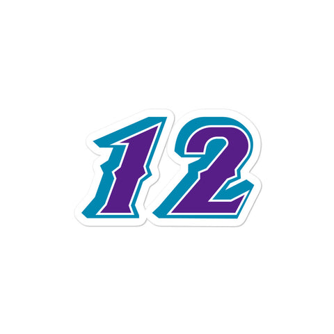 John Stockton #12 Sticker
