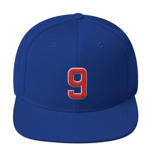 Javier Baez #9 Snapback Hat-Player Number Hat-Coverage Gear