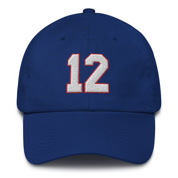Jim Kelly #12 Dad Hat-Player Number Hat-Coverage Gear