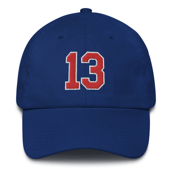 Wilt Chamberlain #13 Dad Hat-Player Number Hat-Coverage Gear