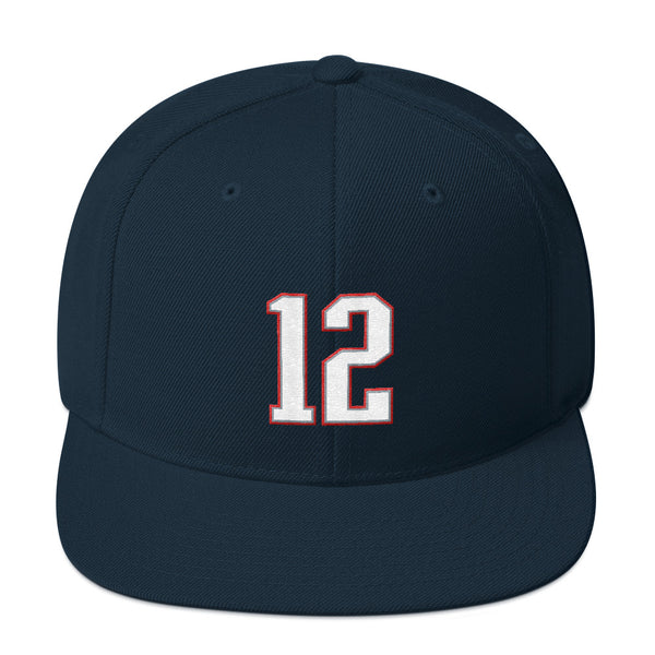 Tom Brady #12 Snapback Hat-Player Number Hat-Coverage Gear
