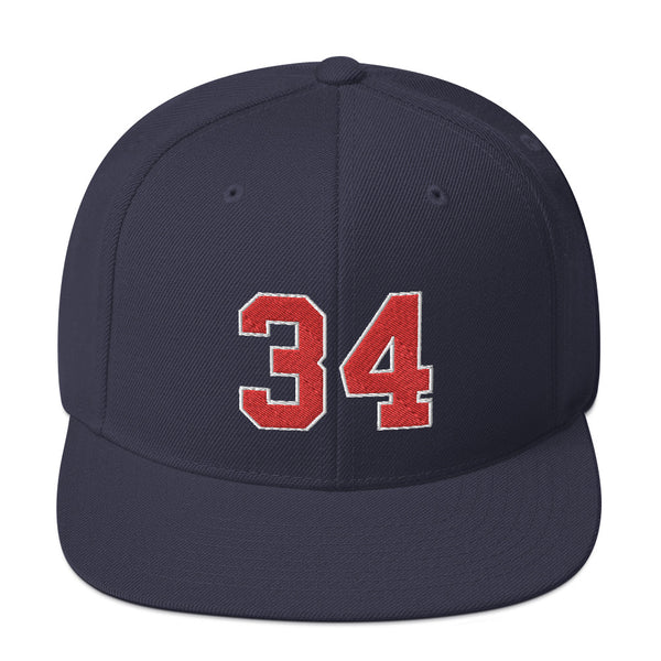Kirby Puckett #34 Snapback Hat-Player Number Hat-Coverage Gear