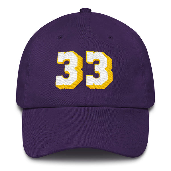 Kareem Abdul-Jabbar #33 Dad Hat-Player Number Hat-Coverage Gear