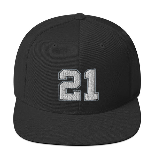Tim Duncan #21 Snapback Hat-Player Number Hat-Coverage Gear