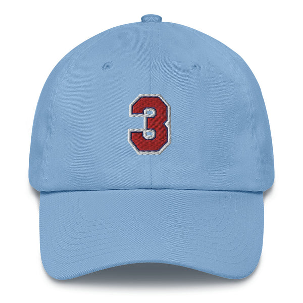 Drazen Petrovic #3 Dad Hat-Player Number Hat-Coverage Gear