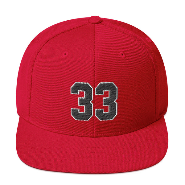Scottie Pippen #33 Snapback Hat-Player Number Hat-Coverage Gear