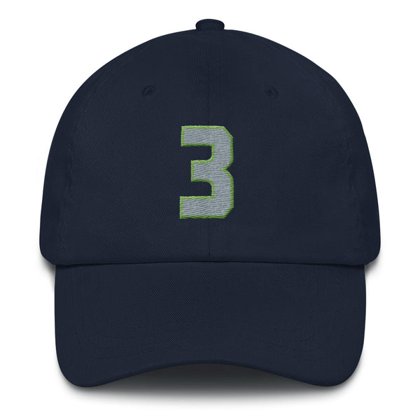 Russell Wilson #3 Dad Hat-Player Number Hat-Coverage Gear