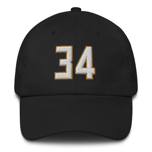 Giannis Antetokounmpo #34 Dad Hat-Player Number Hat-Coverage Gear
