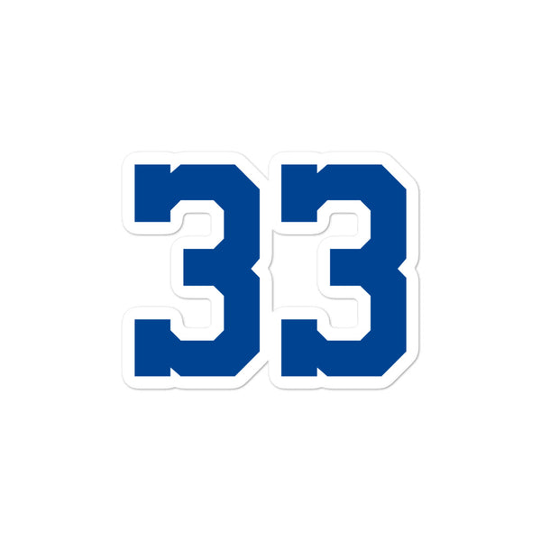 Tony Dorsett #33 Sticker
