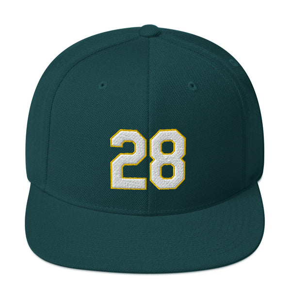 Matt Olson #28 Snapback Hat-Player Number Hat-Coverage Gear
