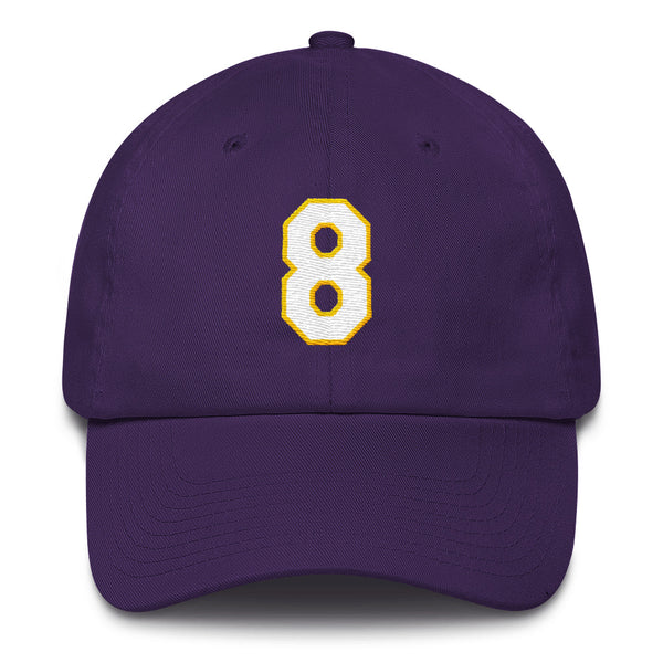 Kobe Bryant #8 Dad Hat-Player Number Hat-Coverage Gear