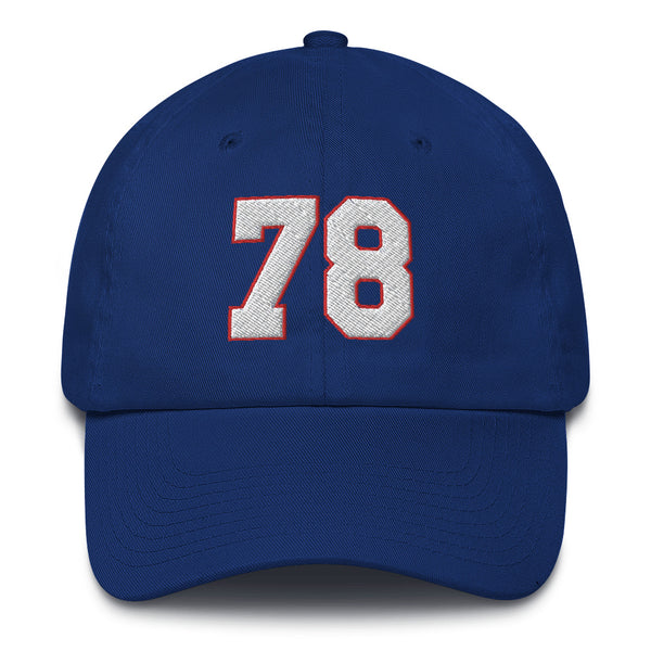 Bruce Smith #78 Dad Hat-Player Number Hat-Coverage Gear
