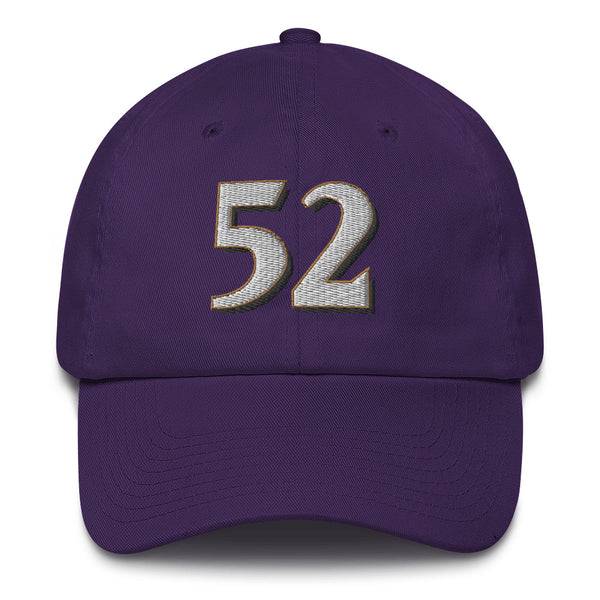 Ray Lewis #52 Dad Hat-Player Number Hat-Coverage Gear