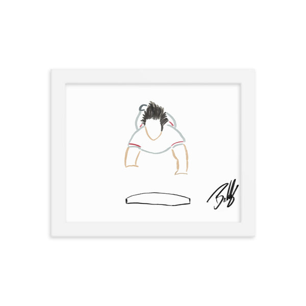 """Hustle"" - Pete Rose Framed Print"