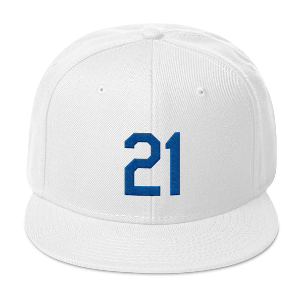 Walker Buehler #21 Snapback Hat-Player Number Hat-Coverage Gear