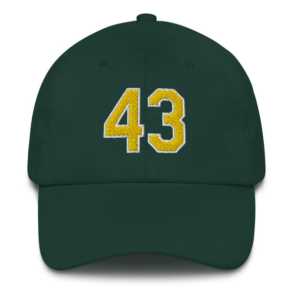 Dennis Eckersley #43 Dad hat-Player Number Hat-Coverage Gear