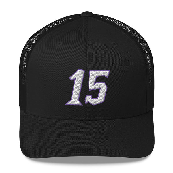 Vince Carter #15 Trucker Cap-Player Number Hat-Coverage Gear