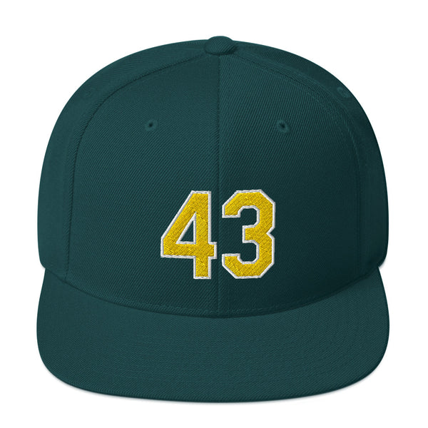 Dennis Eckersley #43 Snapback Hat-Player Number Hat-Coverage Gear