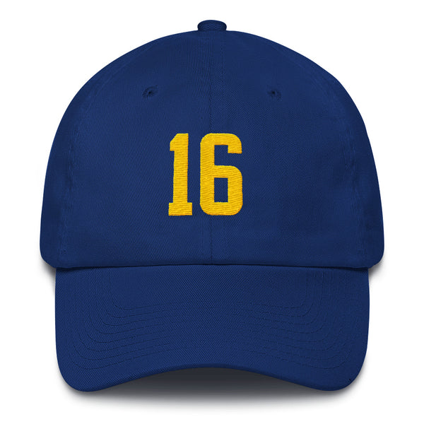 Jared Goff #16 Dad Hat-Player Number Hat-Coverage Gear