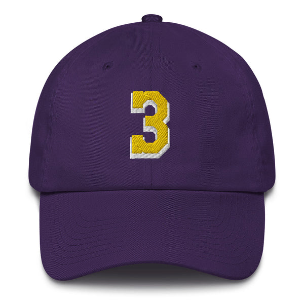 Anthony Davis #3 Dad Hat-Player Number Hat-Coverage Gear