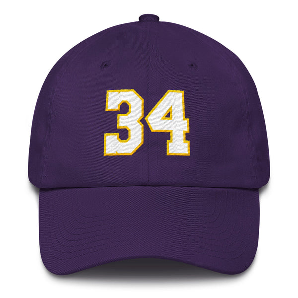 Shaquille O'Neal #34 Dad Hat-Player Number Hat-Coverage Gear