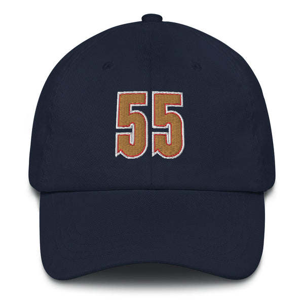 Dikembe Mutombo #55 Dad Hat-Player Number Hat-Coverage Gear