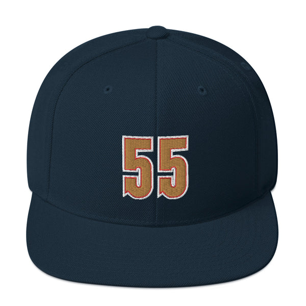Dikembe Mutombo #55 Snapback Hat-Player Number Hat-Coverage Gear