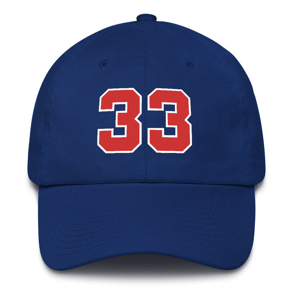 Grant HIll #33 Dad Hat-Player Number Hat-Coverage Gear