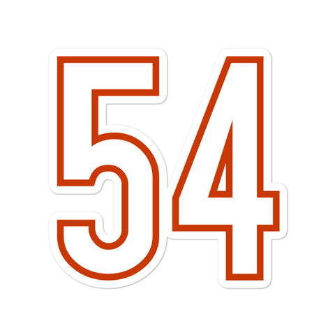 Brian Urlacher #54 Sticker