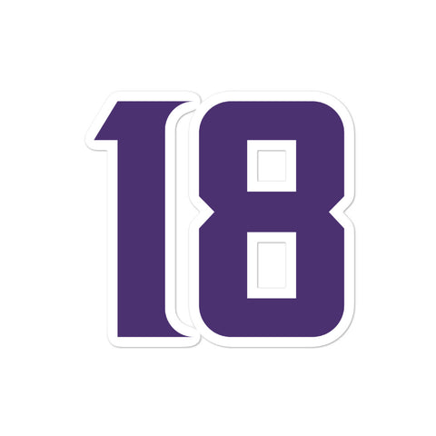 Justin Jefferson #18 Sticker