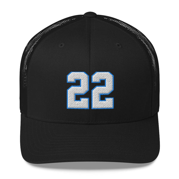 Christian McCaffrey #22 Trucker Cap-Player Number Hat-Coverage Gear