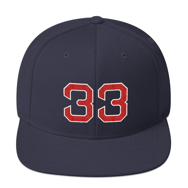 Jason Varitek #33 Snapback Hat-Player Number Hat-Coverage Gear