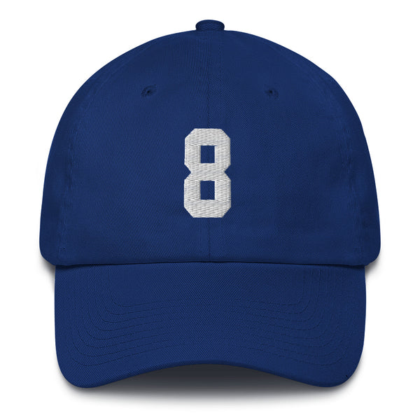 Daniel Jones #8 Dad Hat-Player Number Hat-Coverage Gear