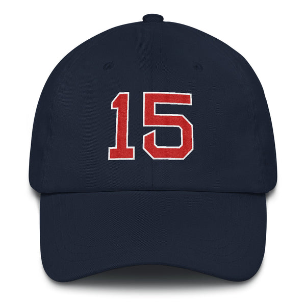 Dustin Pedroia #15 Dad Hat-Player Number Hat-Coverage Gear