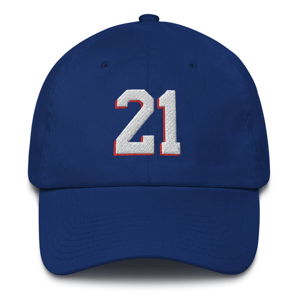Joel Embiid #21 Dad Hat-Player Number Hat-Coverage Gear