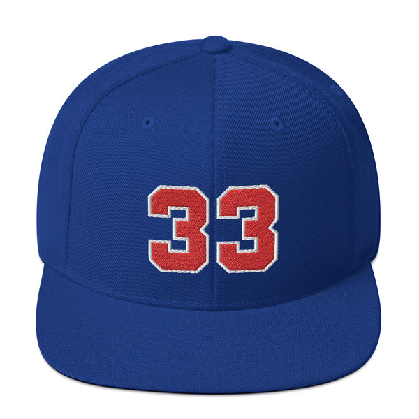 Grant Hill #33 Snapback Hat-Player Number Hat-Coverage Gear