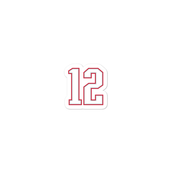 Tom Brady #12 Sticker