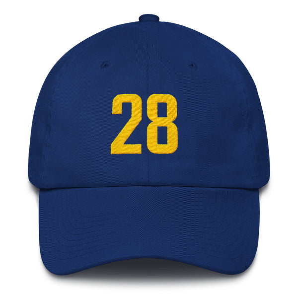Marshall Faulk #28 Dad Hat-Player Number Hat-Coverage Gear
