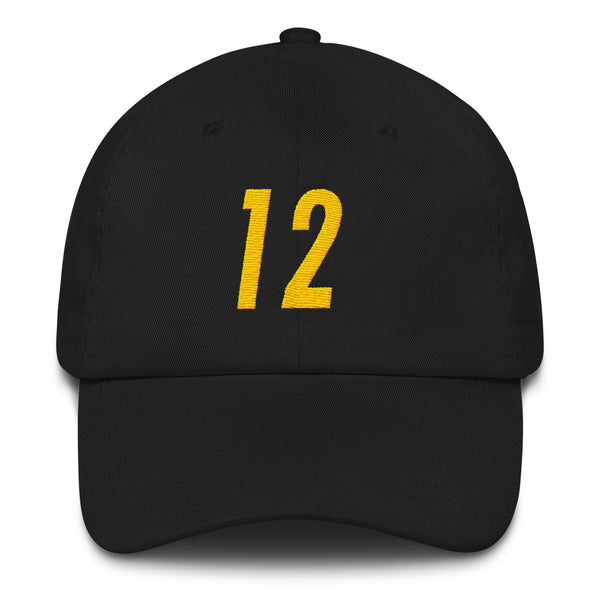 Terry Bradshaw #12 Dad Hat-Player Number Hat-Coverage Gear