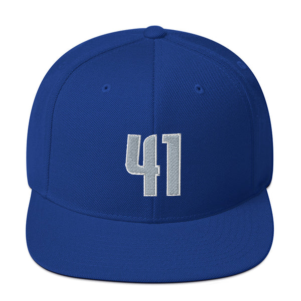 Dirk Nowitzki #41 Snapback Hat-Player Number Hat-Coverage Gear